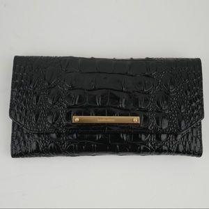 NWOT Brahmin black Melbourne soft checkbook wallet
